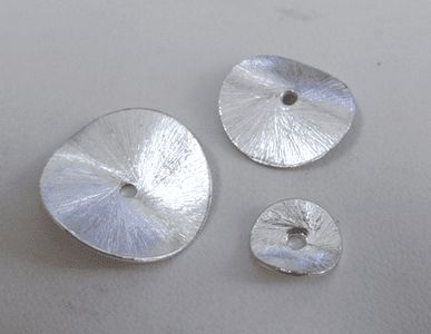 Brushed Wafer Spacers - .999 Silver Over Copper -