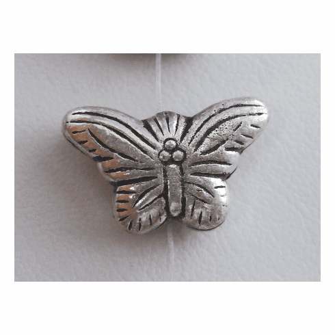 Buttefly Bead Style 2 - 12x20x6mm - 7 Beads - .999 Silver Over Copper<br>SCBK62