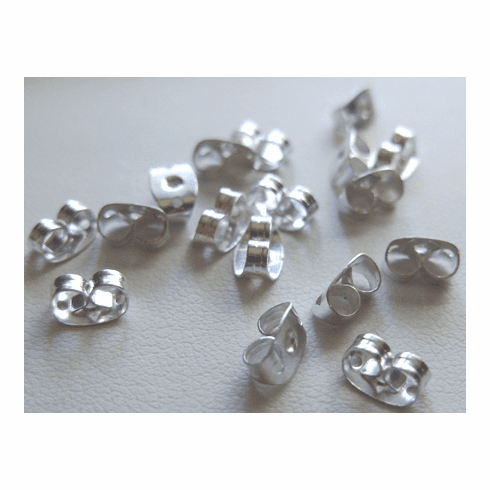 Butterfly Backs - 100 Pieces - .999 Silver Over Copper<br>SCBK501