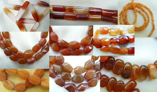 Carnelian Beads - Round, Square, Chunky, Faceted and more