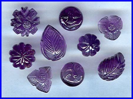 Carved Amethyst Cabochons