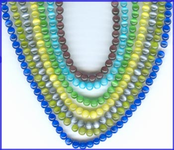 Cat's Eye Fiberoptic Beads