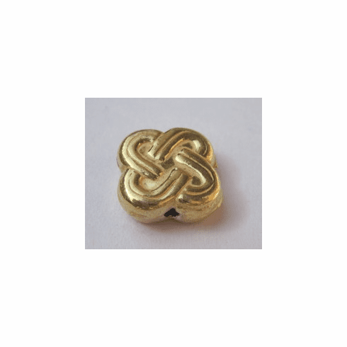 Celtic Clover - 12x12mm - 24 kt Gold Over Copper<br>GCBK32
