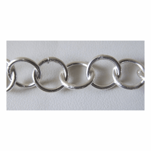 Chain by the Foot - 10mm Round Link - .999 Silver Over Copper<br>SCBKCH-013