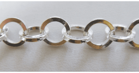 Chain by the Foot - 10mm Square Corner Links - .999 Silver Over Copper<br>SCBKCH-026