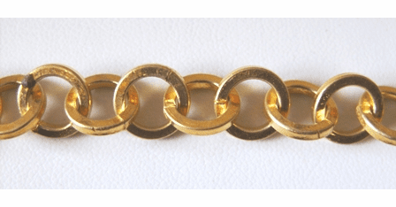 Chain by the Foot - 10mm Washer-Style Links - 24KT Gold Over Copper<br>GCBKCH-025