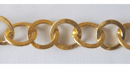 Chain by the Foot - 13mm Washer-Style Links - 24KT Gold Over Copper<br>GCBKCH-022