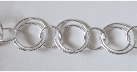 Chain by the Foot - 15mm Dbl Rings w/ 10mm Links - .999 Silver Over Copper<br>SCBKCH-031