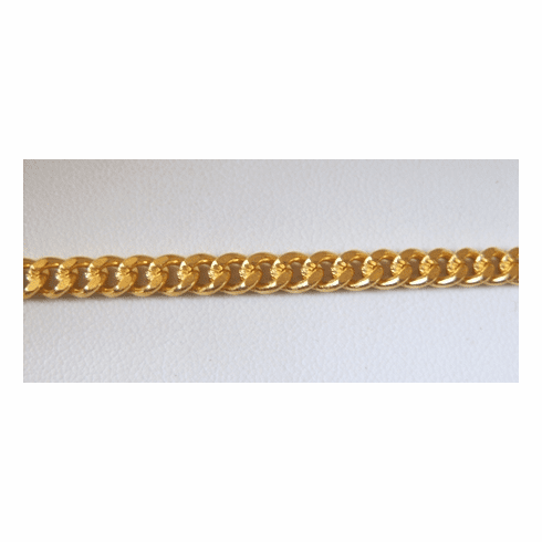 Chain by the Foot - 5mm Links - 24KT Gold Over Copper<br>GCBKCH-053