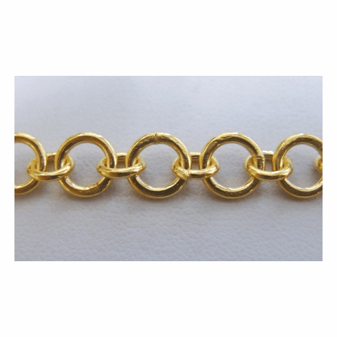 Chain by the Foot - 8 and 5mm Links - 24KT Gold Over Copper<br>GCBKCH-015