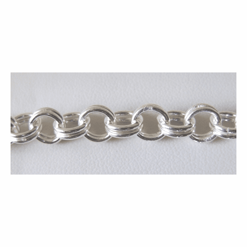 Chain by the Foot - 8mm Dbl Links - .999 Silver Over Copper<br>SCBKCH-035