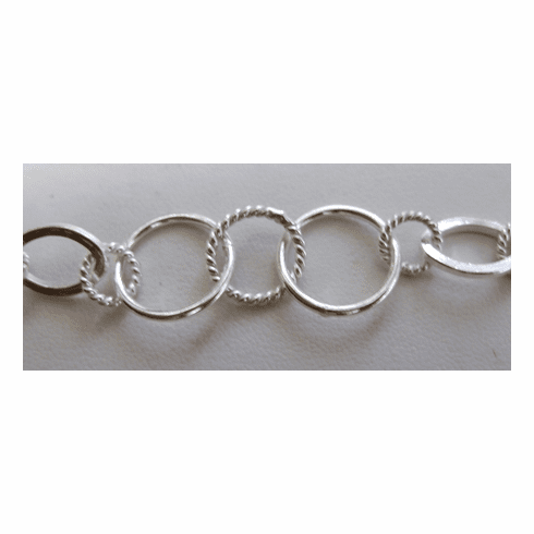 Chain by the Foot - 9x14mm - .999 Silver Over Copper<br>SCBKCH038