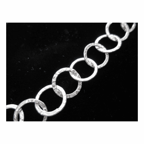 Chain by the Foot - Textured - 15mm Round Links - .999 Silver Over Copper<br>SCBKCH-T1C