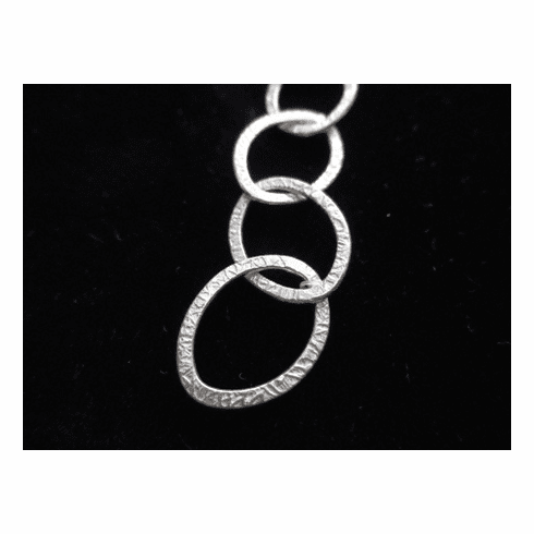 Chain by the Foot - Textured - 18x15mm Oval<br>SCBKCH-T3F