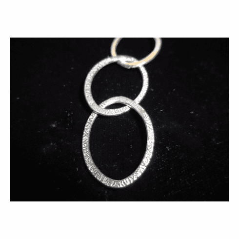 Chain by the Foot - Textured - 18x25mm Oval Links<br>SCBKCH-T3E