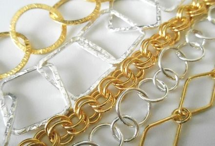 Chain and bracelets .999 Silver and 24kt. Gold Over Copper Core