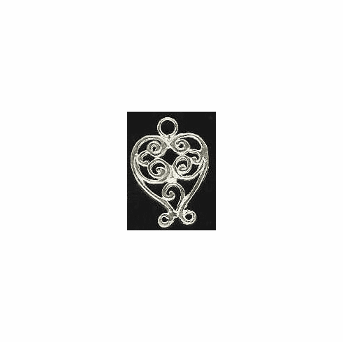 Chandelier Earring Finding - 2  Pieces - Sterling Silver<br>SS-12
