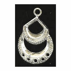 Chandelier Earring Finding - 4 Pieces - Sterling Silver<br>SS-9