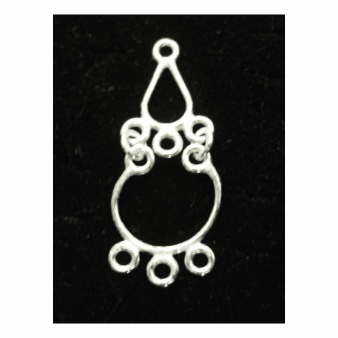 Chandelier Earring Finding - Hangs 1.5 Inches - 4 Pieces - .999 Silver Over Copper<br>MCC99