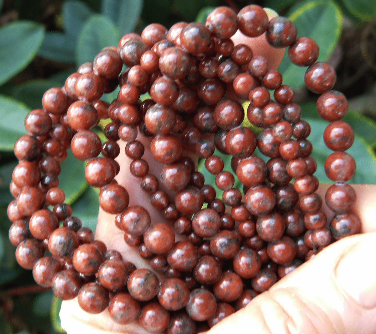 "Chinese Red Jade Beads 6mm 16"" Strands"