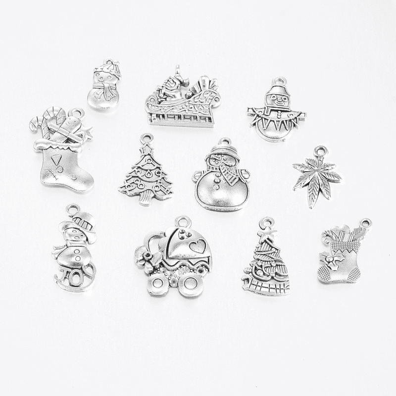 Christmas Seasonal Charms 12 piece assortment