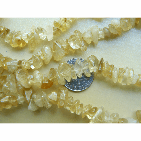 "Citrine Beads Large Chips 15"" strands"