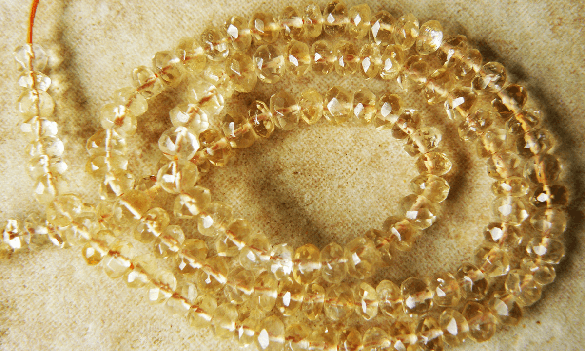 """Citrine Rondelle Faceted Beads 3x4.5mm 14"""" strands"""