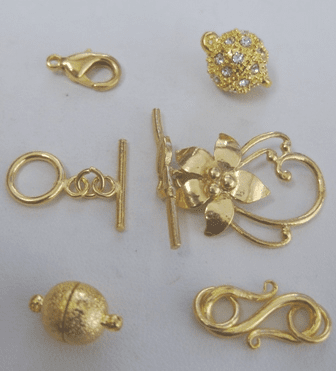 Clasps, toggles and conectors 24kt. Hypoallergenic Gold Over Copper