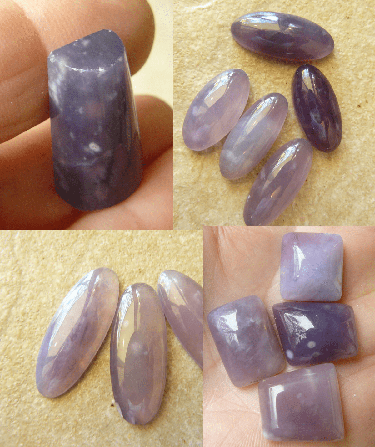 Click Here for Purple Chalcedony Cabochons