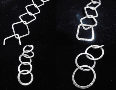Textured Chain - .999 Silver Over Copper -