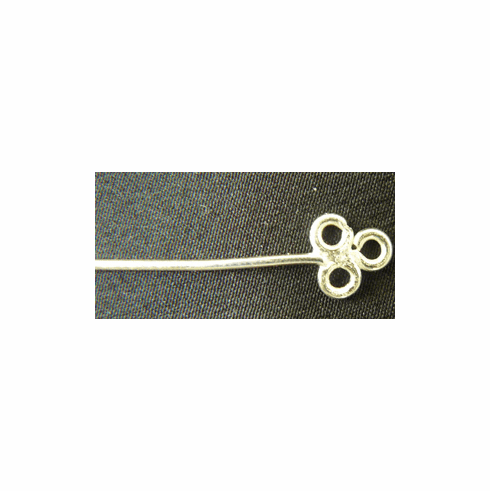 "Clover Eye Pins - 3"" - 36 Pieces - .999 Silver Over Copper"