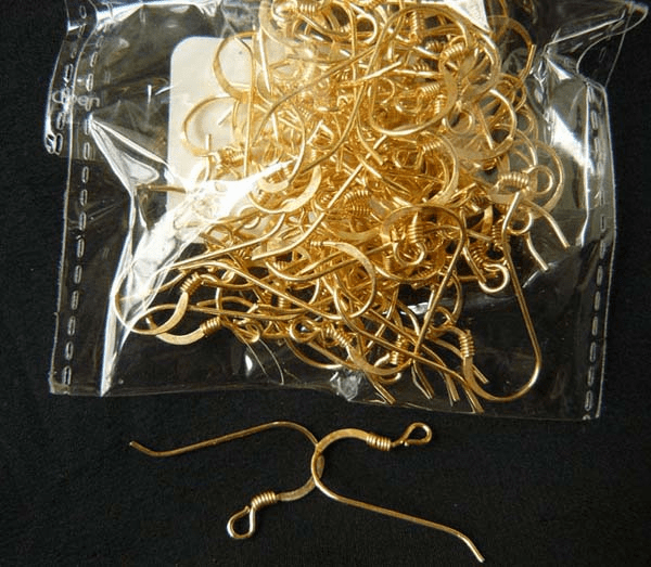 Coil Ear Wire 24Kt. Gold Over Copper 24 ga. 22 Pairs