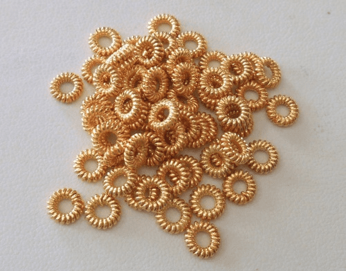 Coil Rings - 6mm - Closed - 75 pcs. - 24kt Gold Over Copper<br>GCBK55