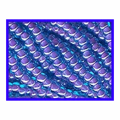 Color Lined Blue Amethyst 8/0 Seed Beads