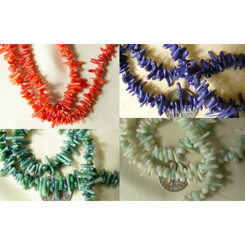 """Colorful Coral Small limbs 4 colors 16"""" strands"""
