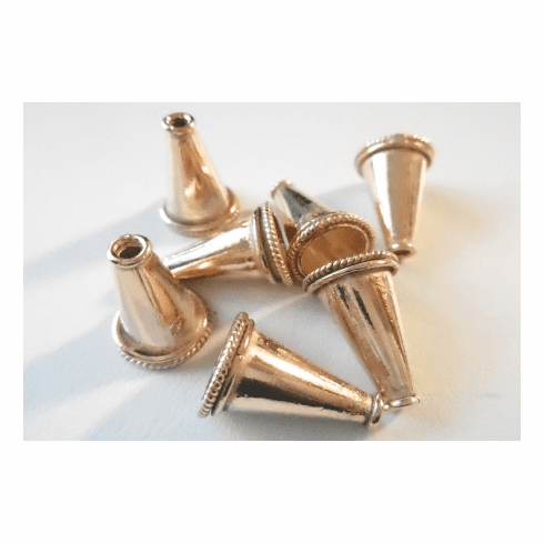 Cone - 18x12mm - 6 Pieces - Rose Gold Over Copper<br>SIC42