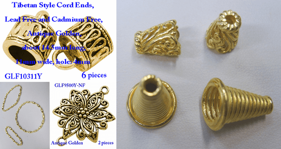Cones and Connectors - 24Kt Gold Over Copper -