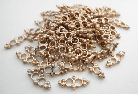 Connector - 11x4mm - 82 Pieces - Rose Gold Over Copper<br>SIB153