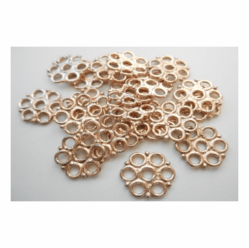 Connector - 15mm - 20 Pieces - Rose Gold Over Copper<br>SIB137