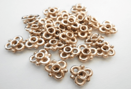 Connector - 8mm - 24 Pieces - Rose Gold Over Copper<br>SIB134