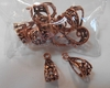 Copper Bails 13 pieces lacey design 100% Copper