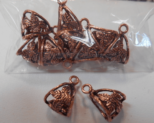 Copper Bails with connecting loop Ligher weight multi pack