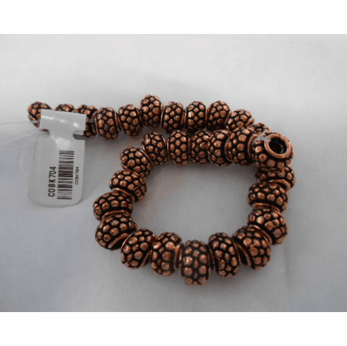 """Copper Basket style spacer beads 8"""" strand 8mm"""