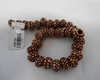 "Copper Basket style spacer beads 8"" strand 8mm"