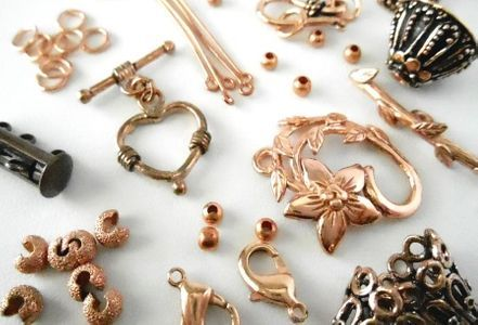 Copper Beads and Findings