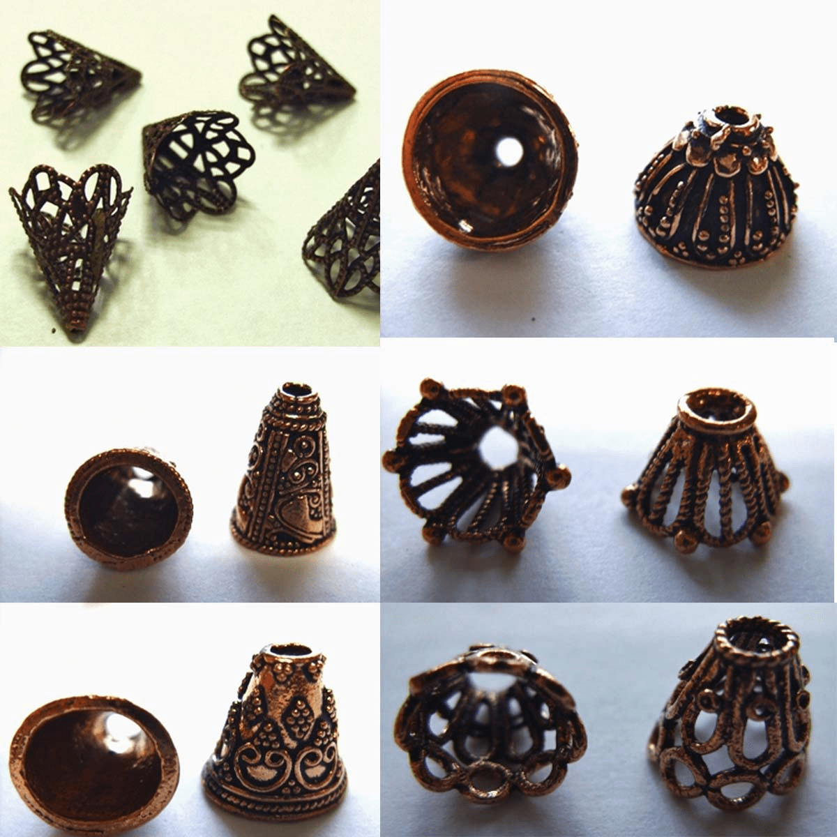 Copper Cones for Jewelry Art
