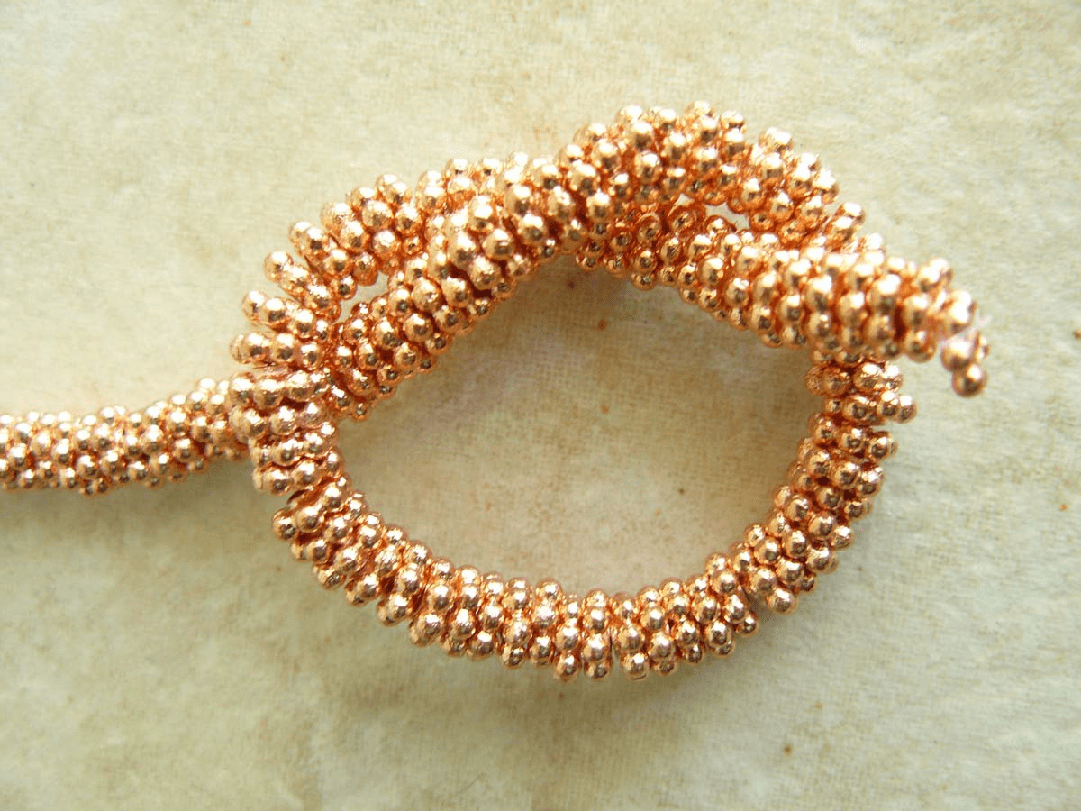 "Copper Daisy 3mm Bright finish 8"" Strands over 260 beads"