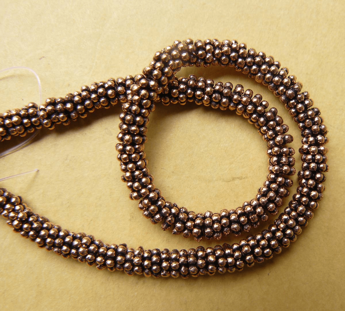 Copper Daisy Spacer 4mm Over 120 beads