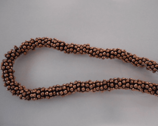 Copper Daisy spacer beads 6mm 85 pcs.