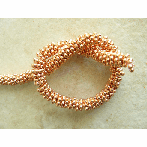 """Copper daisy spacers 6mm Bright finish 8"""" strands"""